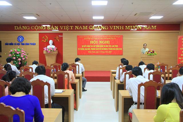 Hình Đảng bộ Bảo hiểm xã hội tỉnh sơ kết công tác xây dựng đảng  và Học tập làm theo tư tưởng, đạo đức phong cách Hồ Chí Minh  6 tháng đầu năm 2020