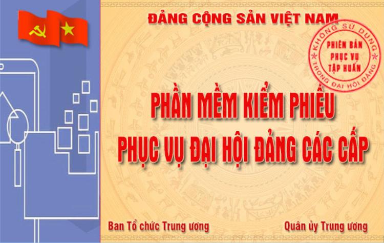 Hình Đảng ủy Khối tập huấn kiểm phiếu bầu cử bằng Phần mềm kiểm phiếu phục vụ Đại hội Đảng các cấp