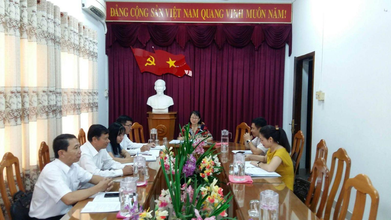 Hình Ban Thường vụ Đảng ủy Khối cơ quan và doanh nghiệp tỉnh họp thường kỳ tháng 7/2020