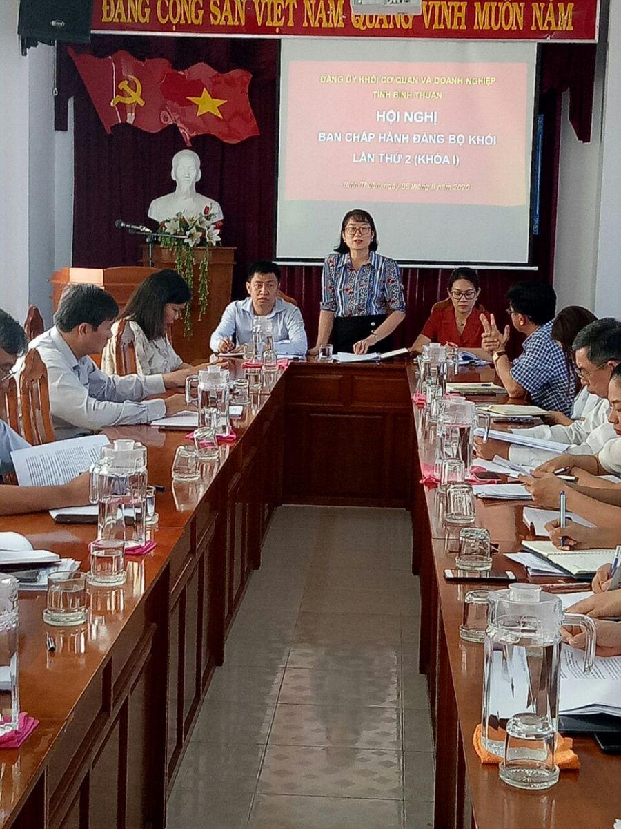 Hình Hội nghị Ban Chấp hành Đảng bộ Khối cơ quan và doanh nghiệp tỉnh lần thứ 2