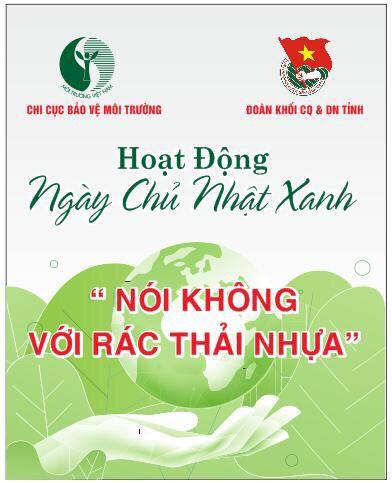 Hình Đoàn Khối phối hợp chi cục Bảo vệ môi trưởng tổ chức hoạt động Ngày Chủ nhật xanh