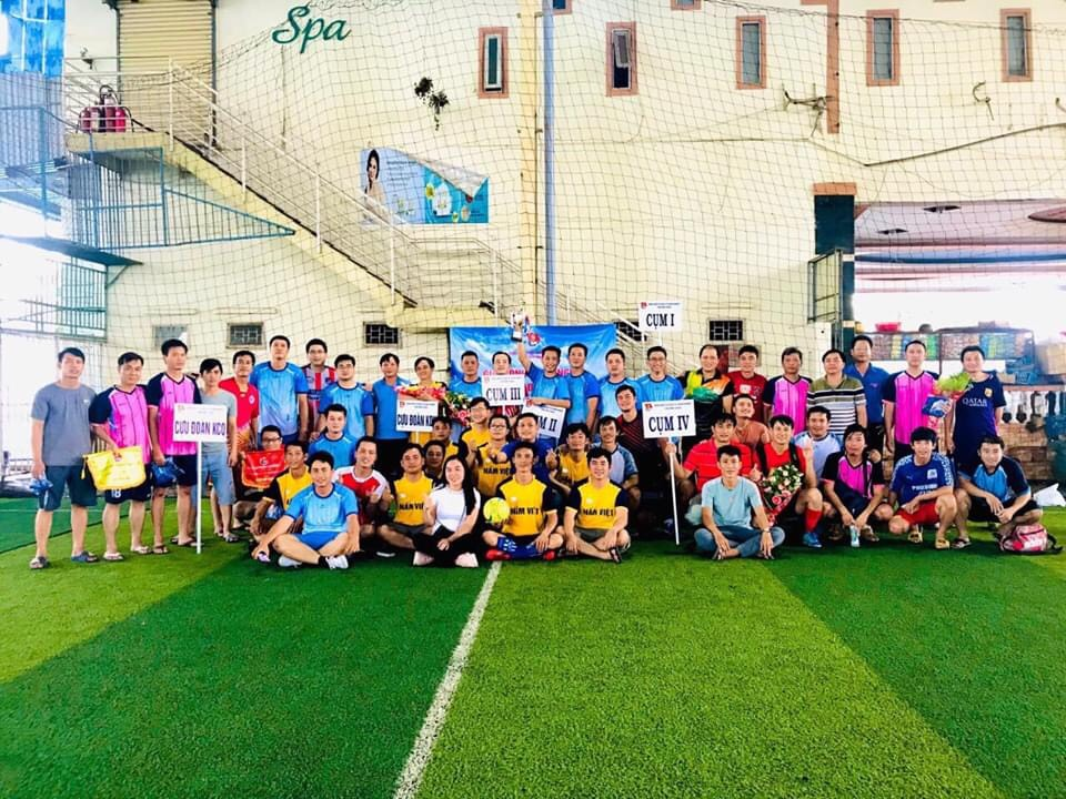 Hình Đoàn Khối cơ quan và doanh nghiệp tỉnh tổ chức giải bóng đá 05 người nam cán bộ Đoàn 2020