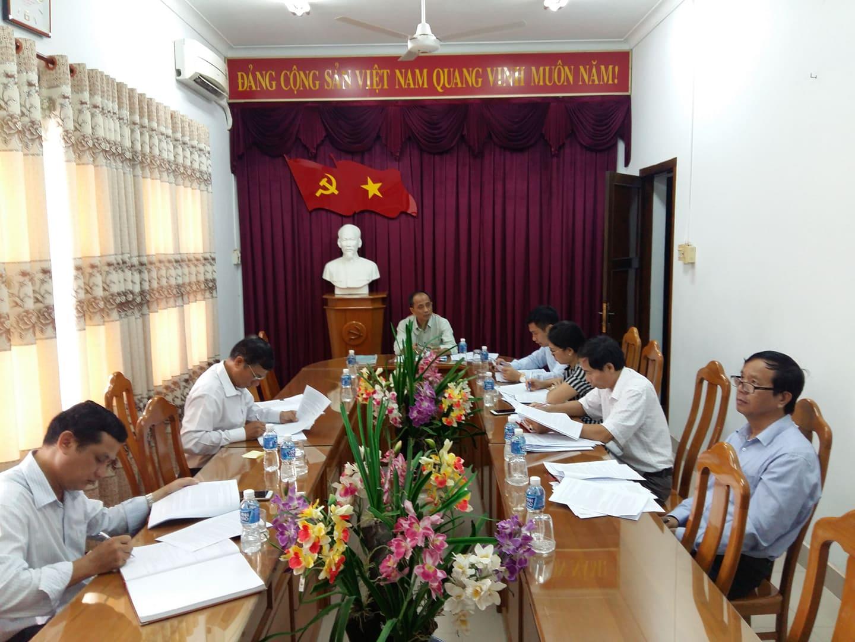 Hình Ban Thường vụ Đảng ủy khối các cơ quan tỉnh họp thường kỳ tháng 08/2019