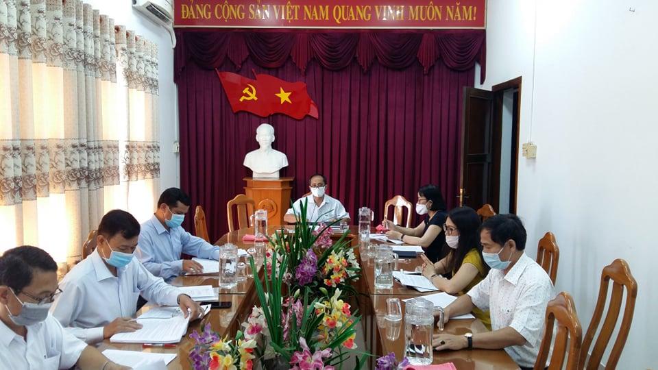 Hình Ban Thường vụ Đảng ủy Khối cơ quan và doanh nghiệp tỉnh họp thường kỳ tháng 3/2020