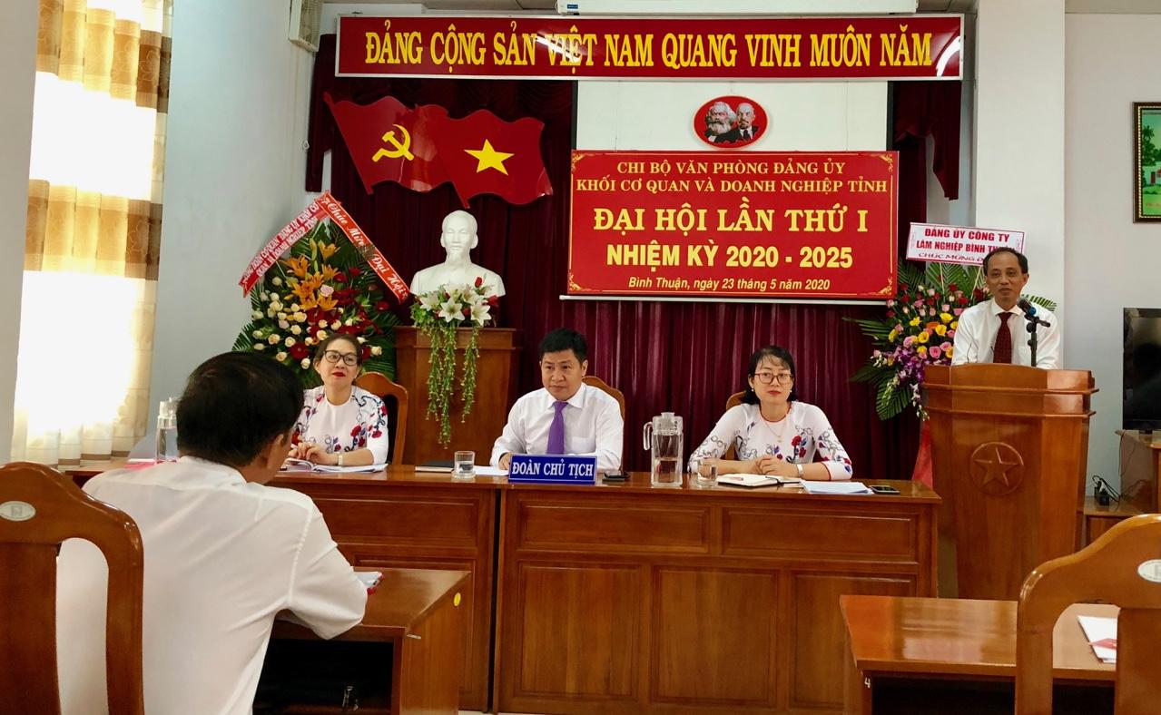 Hình Chi bộ Văn phòng Đảng ủy Khối Đại hội lần thứ I, nhiệm kỳ 2020 - 2025