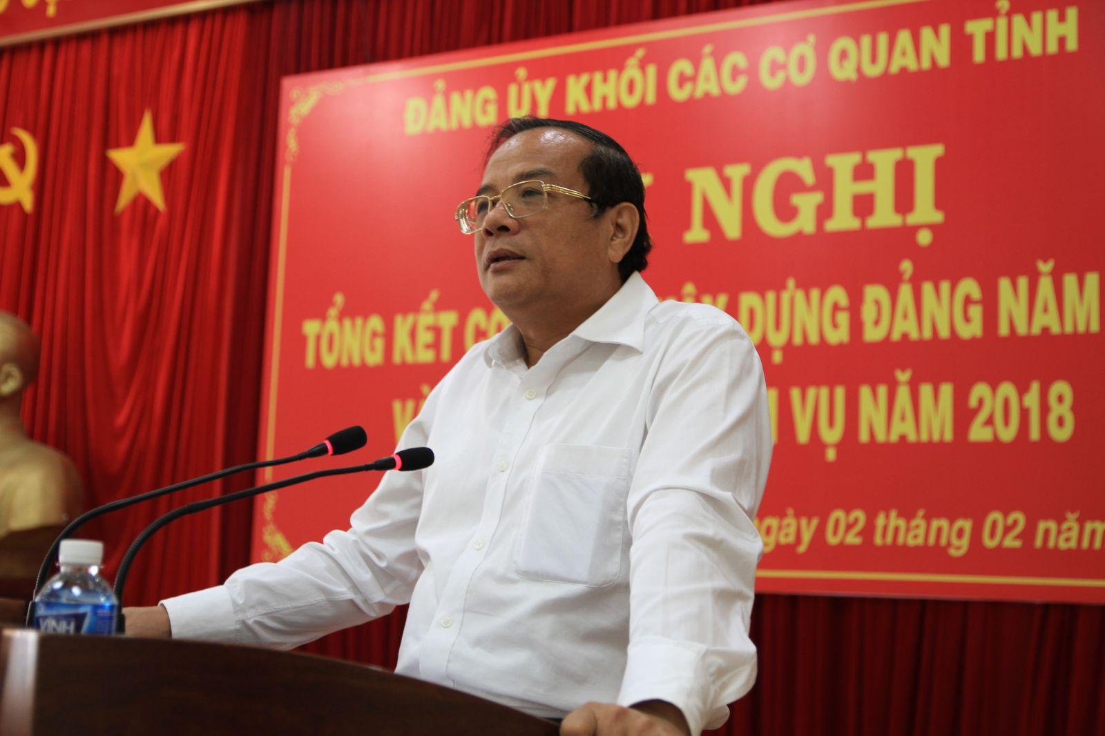 Đ/c Huỳnh Thanh Cảnh - Phó Bí thư Thường trực Tỉnh ủy phát biểu chỉ đạo Hội nghị