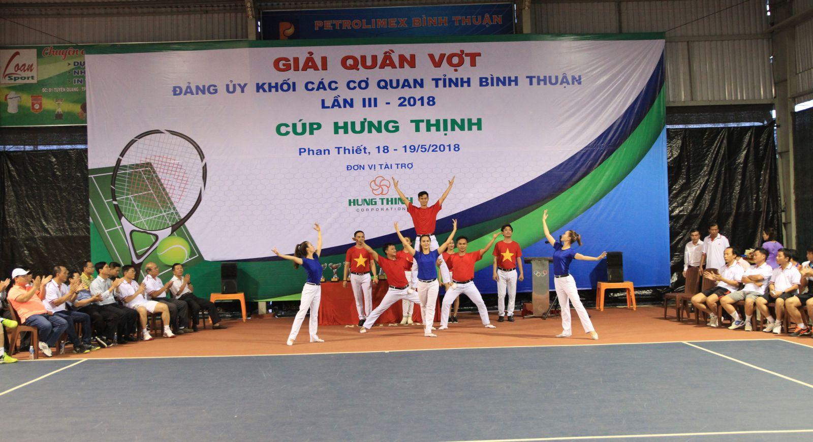 Hình Giải Quần vợt Đảng ủy khối các cơ quan tỉnh Bình Thuận lần thứ III năm 2018 cúp Hưng Thịnh