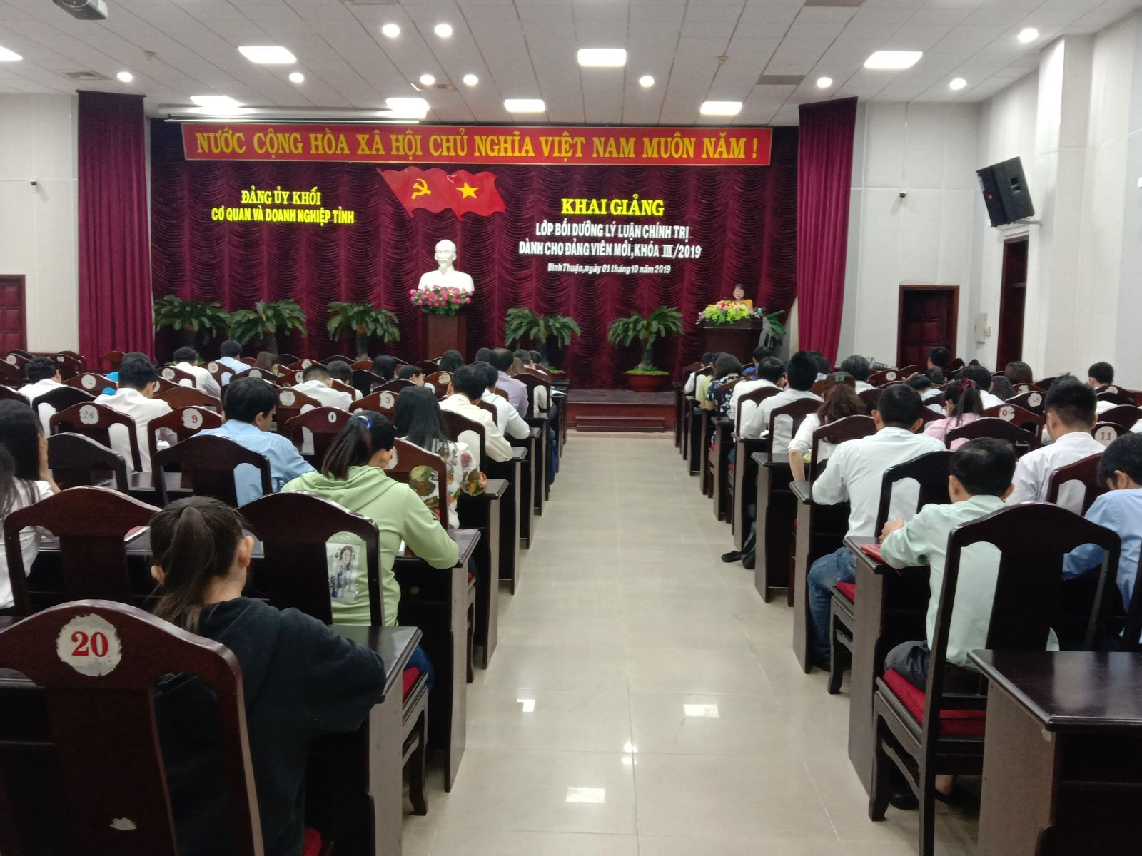 Hình Khai giảng lớp bồi dưỡng Lý luận Chính trị dành cho đảng viên mới khóa III năm 2019
