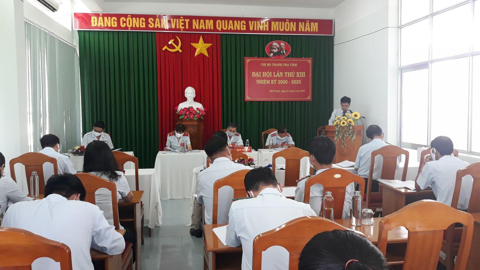 Hình Chi bộ Thanh tra tỉnh tổ chức Đại hội lần thứ XIII, nhiệm kỳ 2020 - 2025