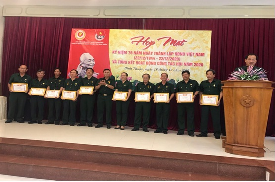 Hình Ghi nhận kết quả hoạt động của Hội Cựu Chiến binh Khối cơ quan và doanh nghiệp tỉnh Bình Thuận