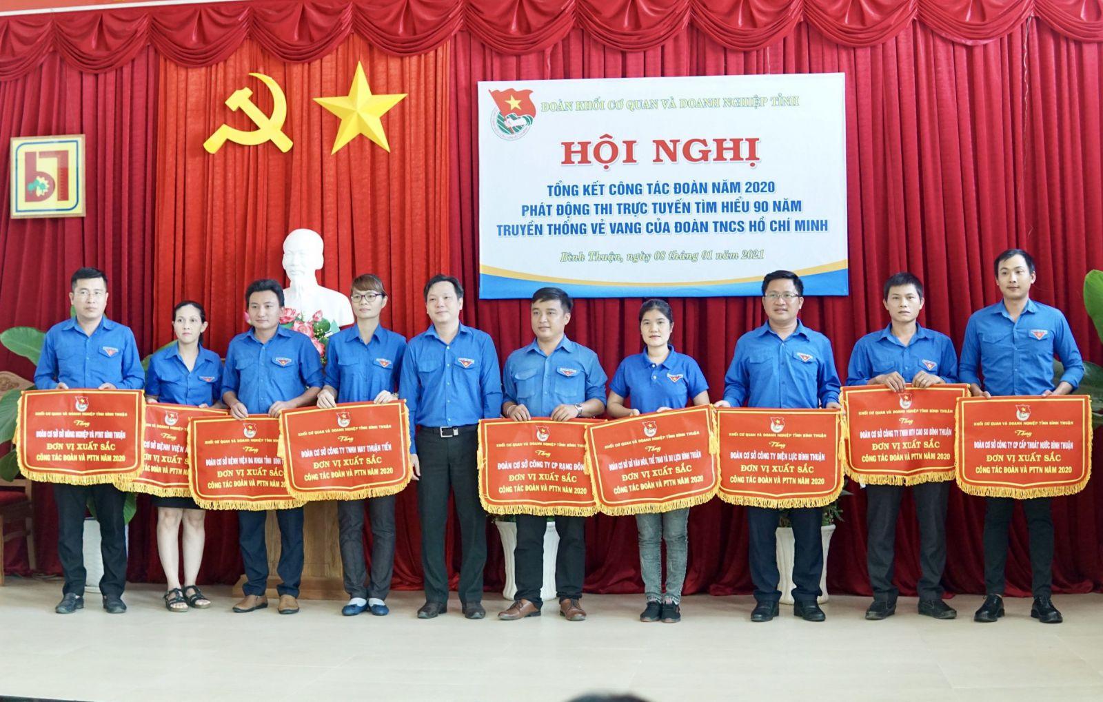Hình Đoàn Khối tổ chức Hội nghị tổng kết công tác Đoàn 2020, phát động thi trực tuyến tìm hiểu 90 năm truyền thống vẻ vang của Đoàn TNCS Hồ Chí Minh