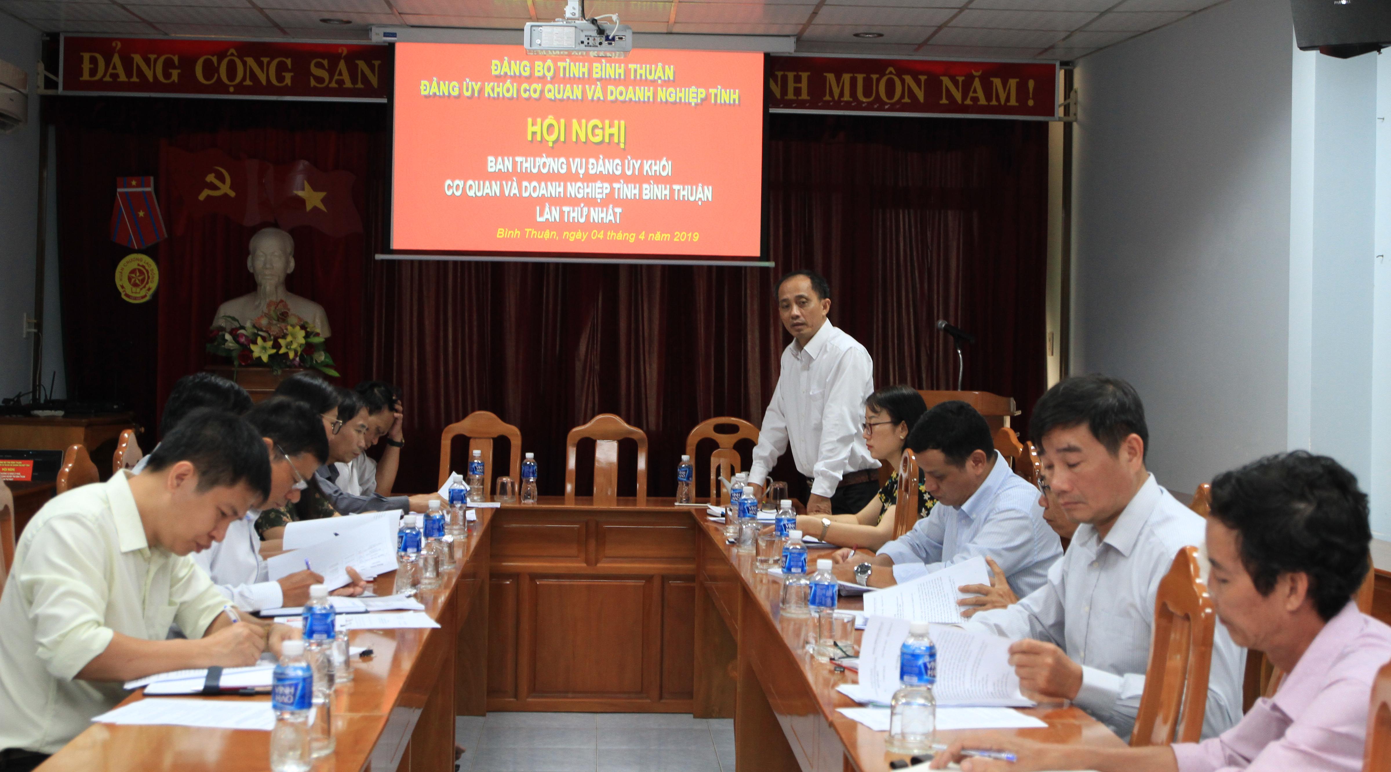 Hình Ban Thường vụ Đảng ủy Khối cơ quan và doanh nghiệp tỉnh tổ chức Hội nghị lần thứ nhất