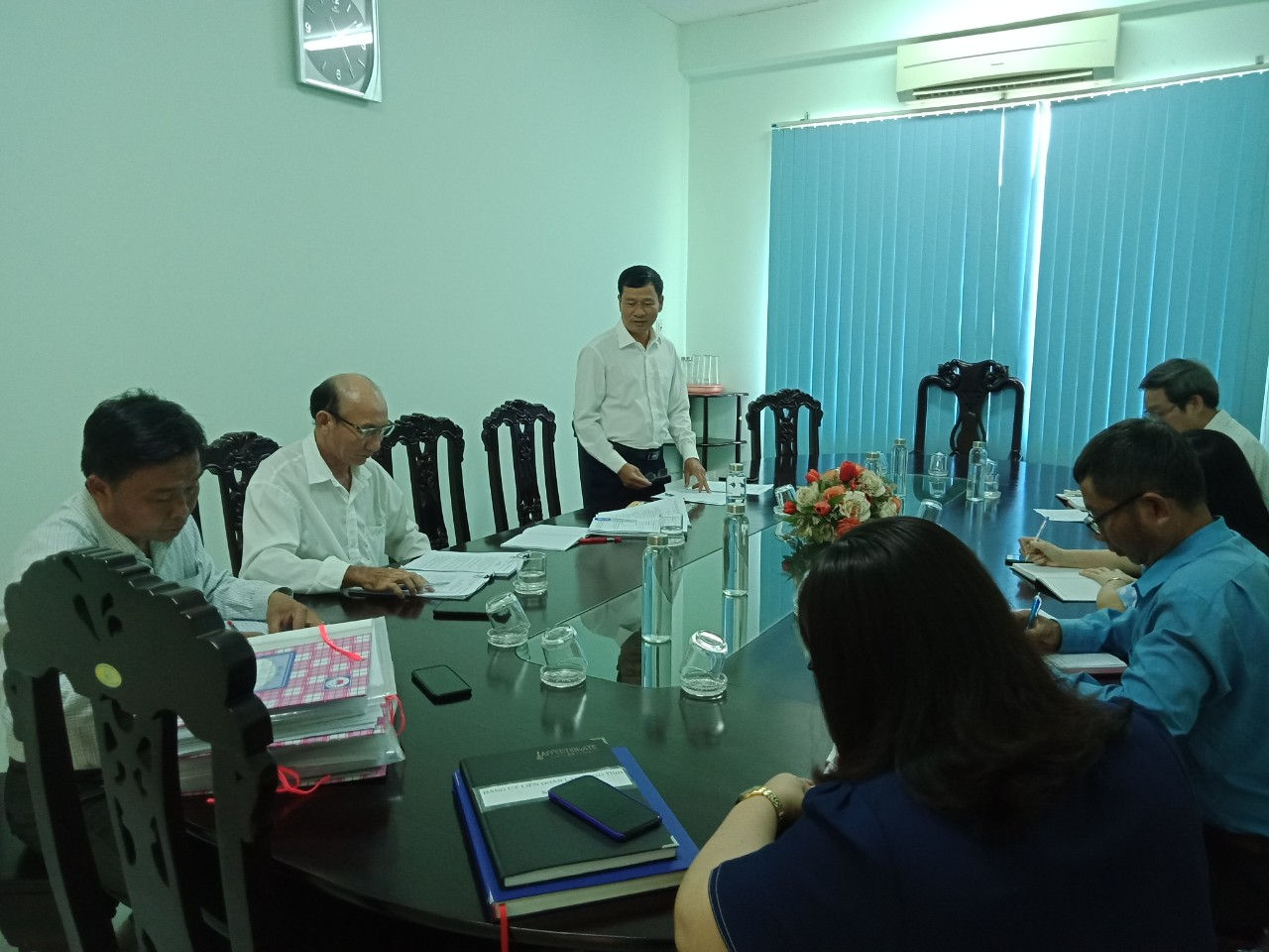 Hình Ban Thường vụ Đảng ủy Khối kiểm tra công tác xây dựng Đảng đợt I/2021
