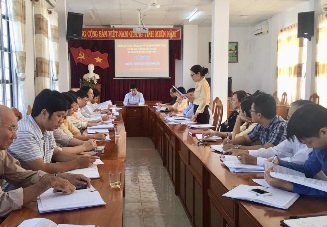 Hình Chi bộ Văn phòng Đảng ủy Khối cơ quan và doanh nghiệp tỉnh tổ chức Hội nghị tổng kết năm 2019